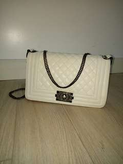 White Chanel Inspired Purse