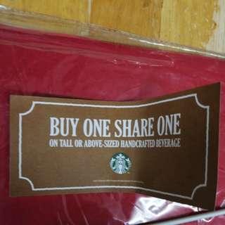 免費買一送一抵玩Starbucks咖啡優惠券12月31號過期只限太古城使用