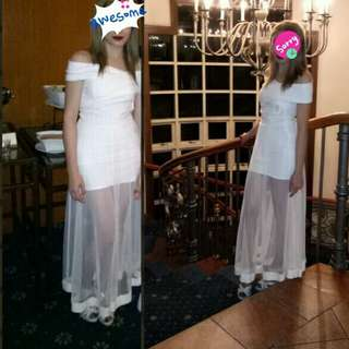 Pre loved White dress