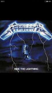 arthlp METALLICA Ride The Lightning LP Vinyl Record (Brand New Sealed) For Whom The Bell Tolls etc