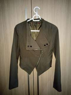 Olive Studded Jacket