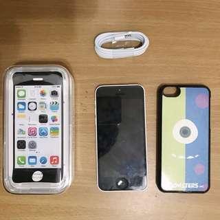 🚚 I phone 5c 白色16G  贈手機殼 有些微使用痕跡 如圖片