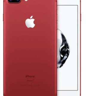 Iphone 7 Plus Red **screen crack on top***