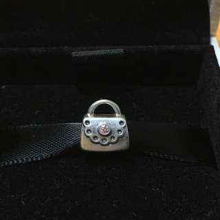 PANDORA Handbag with Pink Crystal Charm