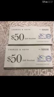 WTB Charles N Keith Voucher @ 20 percent off