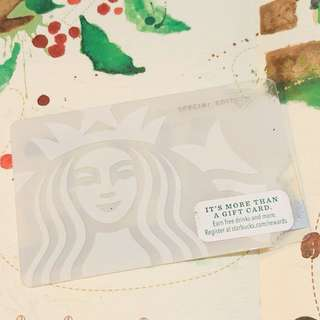 Starbucks siren special edition card