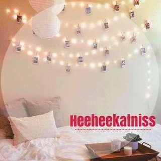 🎉快速出貨🎉 現貨 情人節優惠 驚喜 佈置 LED圓球小燈泡 燈飾 掛燈 閃燈 串燈 暖白色 免運 裝飾 電池款