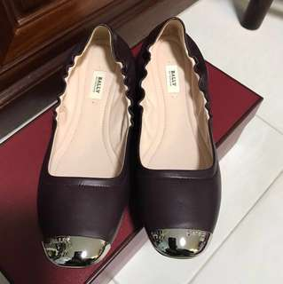 Bally leather shoes dark purple