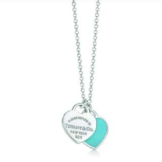 Like new TIFFANY & CO silver 925  heart NECKLACE worn once