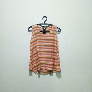 Rainbow blouse sleeveless