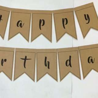 $28 Happy Birthday Flag Banner