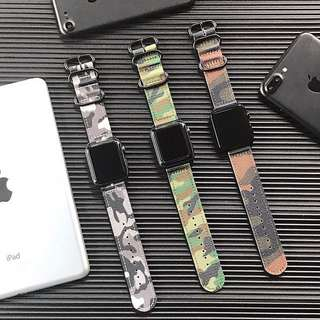 42mm/38mm APPLE WATCH SERIES 3/2/1 CAMO STRAP WITH ZULU BUCKLE  BAND CASE CASING COVER STRAP BAND (Self-Collection) (Postage)
