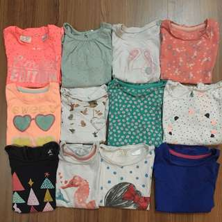 ZARA, MOTHERCARE, GAP, COTTON ON Girl Tee Set
