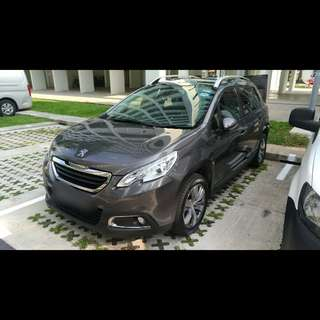 Peugeot 2008 SUV 1.6 e-HDI Diesel Year 2014 for Grab Uber Usage Rental Takeover *NO DAILY OR WEEKEND RENTAL ALLOWED*