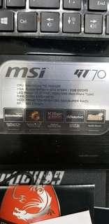 Msi GT70 Gaming laptop