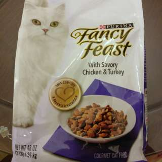 PURINA Fancy Feast Gourmet Cat Food With Savory Chicken & Turkey Dry Cat Food 3 lbs
