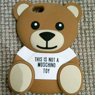 iPhone 6s plus PHONE COVER teddy bear THIS IS NOT A MOSCHINO TOY