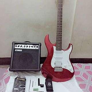 Yamaha Guitar EG112C & Yamaha amplifier GA - 15