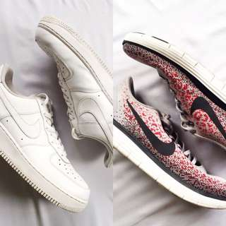 Bundle: Original Nike (AF1 and FreeRN) Shoes