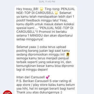 The tenth😍thankyou so much Carousell for the compliments😍😍🙏