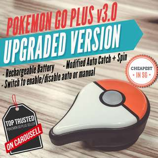 [In-Stock Sale] Pokemon Go Plus v3.0 - Modified Auto Catch Spin Recharge Rechargeable Mod Gotcha Brook