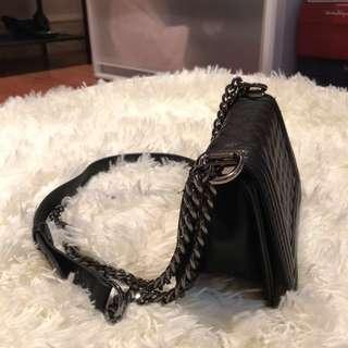 F21 Black Leather Bag BNEW