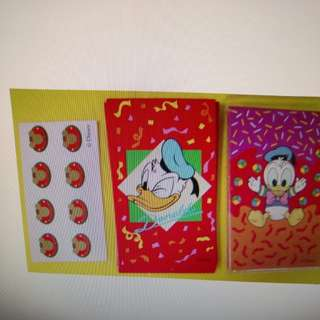 唐老鴨 Micky Minnie 利是封共3包