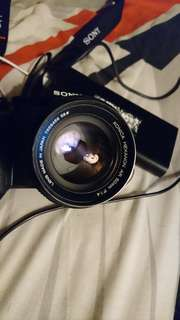 Konica hexanon 50mm f/1.4 lens + sony adapter