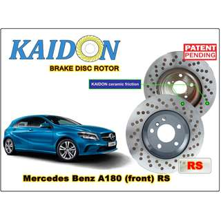 "Mercedes Benz A180 disc rotor KAIDON (front) type ""RS"" spec"
