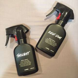 LUSH Body Sprays (Twilight and Rose Jam)