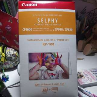 Canon Selphy Compact photo printer 相紙Post Card Size 4R size 108張連墨盒
