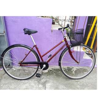 CANDY RED JAPAN CITY BIKE (FREE DELIVERY AND NEGOTIABLE!)not folding bike