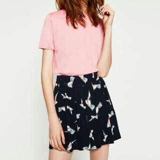 Zara Basic Bird Print Highwaist Shorts