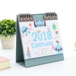 (全新2018日曆只售$10) 史迪仔座枱日曆