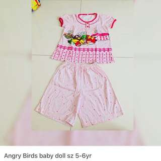 Angry birds baby doll