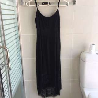 dotti black lace long dress