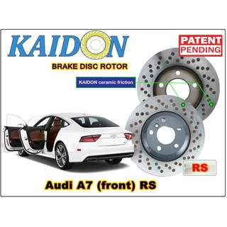 """AUDI A7 disc rotor KAIDON (front) type """"RS"""" spec"""