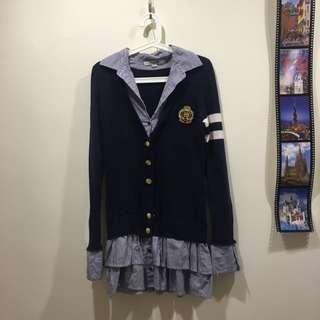 FOREVER 21 學院風連身裙
