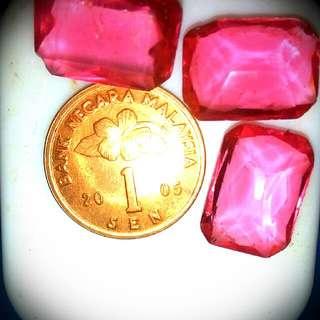 permata/gem pink rubby/delima merah muda..