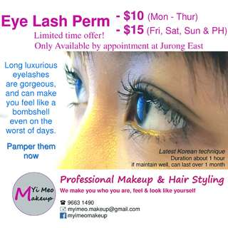 Eye Lash Perm for $10