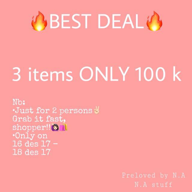 3 items JUST 100k