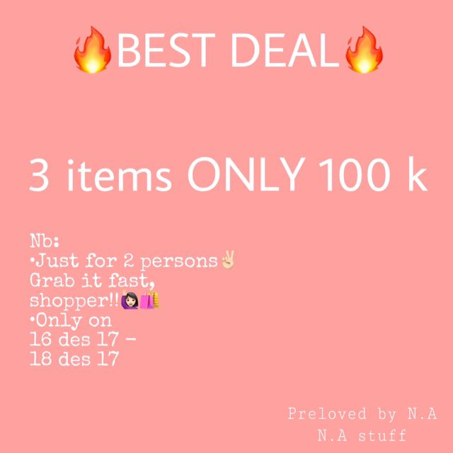 3 ITEMS ONLY 100k