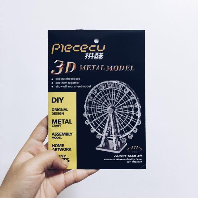 3D DIY Metal Model Puzzle Collectible