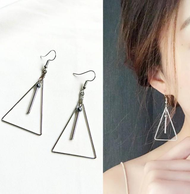 日韓垂掛式耳環