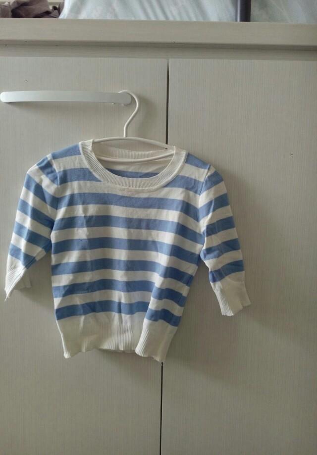 針織短版毛衣