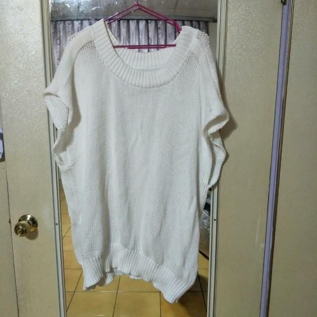 白色長版毛衣背心 #舊愛換新歡