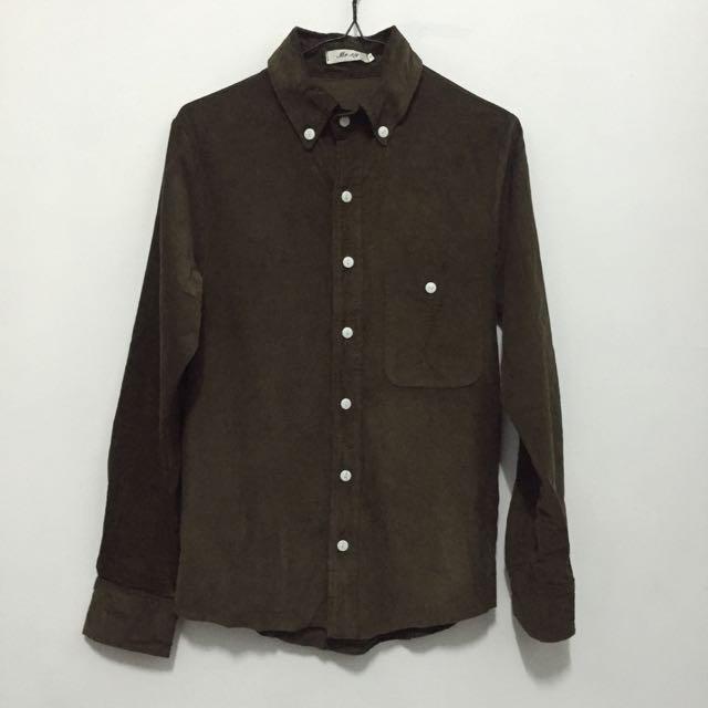 (代)棕色燈芯絨襯衫