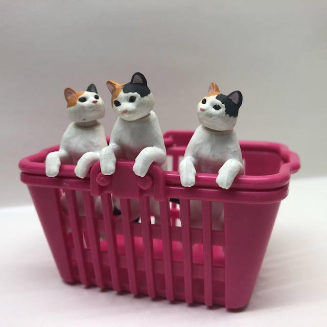貓咪杯緣 頭可動可旋轉 不含籃子
