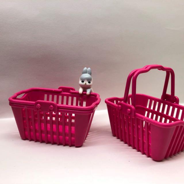 桃紅色 購物籃 不含麻吉兔