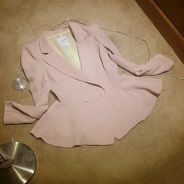 全新 正韓 厚雪坊 粉色 西裝 外套